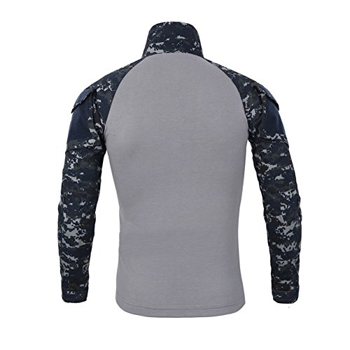 Maglia a maniche lunghe UOMO a manica lunga UOMO SANKE Cappotto militare a rapido attacco a rapida ascesa Navy blue