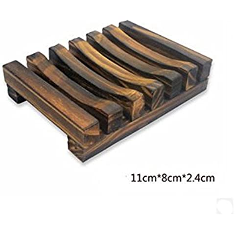 Accessori per il bagno in legno porta saponetta e porta-sapone, NO.005)