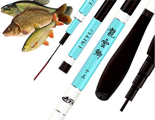 laselectionfishing Angelrute Chinesisch - leicht - Karpfenangeln Karbon Teleskop 5 m 4 m Fisch bis 5 kg
