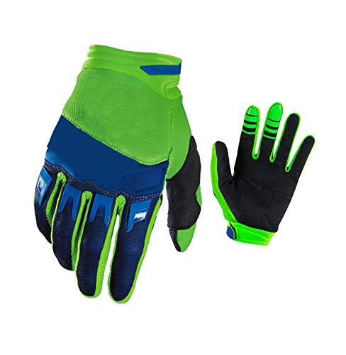 KnBoB Handschuhe Motorrad Motorrad Handschuhe Männer Grün L (Baseball-handgelenk-protektor)