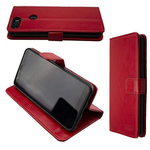 caseroxx Hülle/Tasche Bookstyle-Case Gigaset GS370 / GS370 Plus Handy-Tasche, Wallet-Case Klapptasche (Bookstyle, rot) Handy Tasche Case