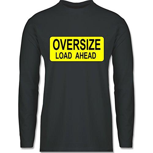 Shirtracer Trucker - Oversize Load Ahead Warnschild - Herren Langarmshirt Dunkelgrau