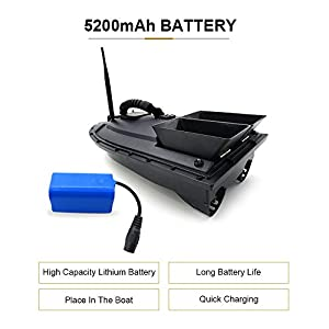 ZMH Fishing Tool Smart RC Bait Boat Toy Digital Automatic Frequency Modulation Remote Radio Control Device Fish Toys by ZMH