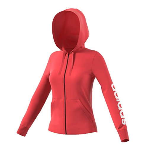 adidas Damen Hoodie Essentials Linear Full-zip Real Coral/White