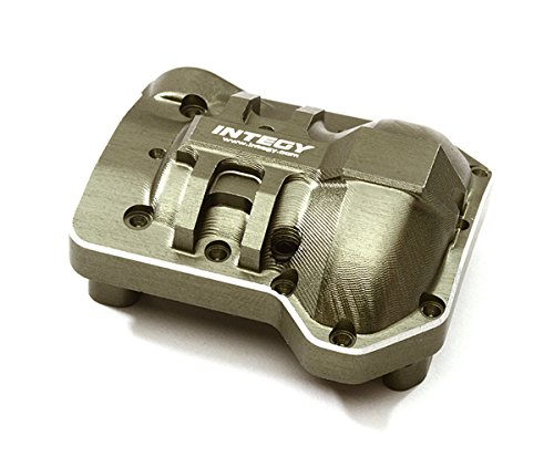 Integy RC Model Hop-ups C28229GUN Billet Machined Alloy Differential Cover for Traxxas TRX-4 Scale & Trail Crawler - Differential