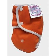 Bolsillos de almacenaje para niños - del Reino Unido para pañales de - diseño de muñeco bandera de Reino Unido a todos los de tela impermeable y - pañales de algodón Poppered