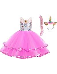 5cbf72496d2d LZH Girls Unicorn Flower Dress Costume Cosplay Princess Birthday Party  Dresses Up