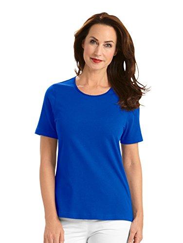 Damen Shirt mit Pima Baumwolle by MONA Royalblau
