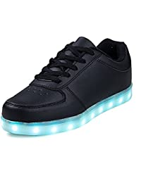 (Present:kleines Handtuch)Schwarz EU 44, Licht Farbwechsel High Sport Light Schuhe Top Leuchtende mode JUNGLEST® Led Damen