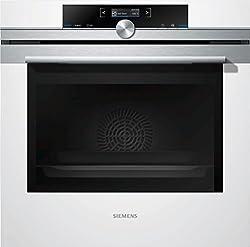 Siemens iQ700 Einbau-Elektro-Backofen HB634GWB1 / Weiß / A+ / coolStart-kein Vorheizen / Backofentür mit SoftMove für gedämpftes Öffnen und Schließen / 4D Heißluft