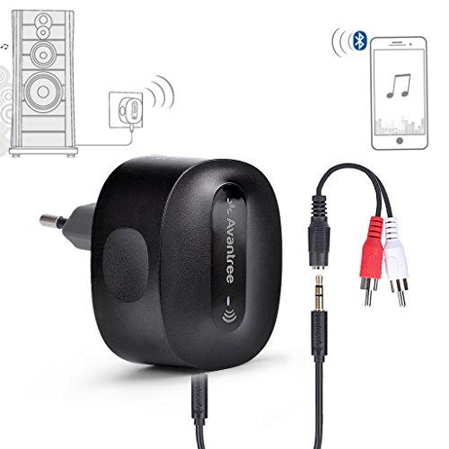 Avantree Bluetooth Empfänger Stereoanlage, LADEFREIER aptX LOW LATENCY Receiver für Lautsprecher, PC, Handys, TV etc. - Roxa Plus [2 JahrGarantie]
