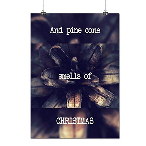 Kiefer Kegel Baum Weihnachten Ferien Mattes/Glänzende Plakat A4 (30cm x 21cm)   Wellcoda (Schnee Kegel Kostüm Ideen)
