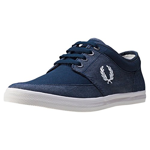 Basket, couleur Blue , marque FRED PERRY, modèle Basket FRED PERRY STRATFORD CHAMBRAY Blue Navy