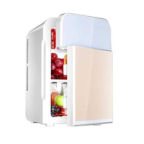 BHDYHM Mini-Kühlschrank, tragbarer, betriebener Kühler und Wärmer für Autos, Dual-Core-Kühlung, leiser, geräuscharmer Elektroschrank, Schreibtischkühlschrank, Mini-Kühlschrank, kleines Büro -