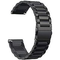 Conquro Correa de la Venda de Acero del Tri-Grano Acero Inoxidable Reemplazo Wristband Pulseras de Repuesto Bandas Fitbit Versa (Negro)