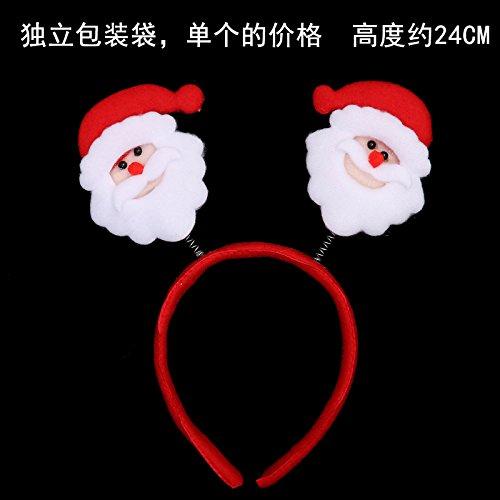 LiWan regalos de Navidad ideas de regalos de Navidad para adultos Niños frisos jefe abrazadera cornamenta hat hair clip decoraciones, jefe de los ancianos (independiente de las bolsas)