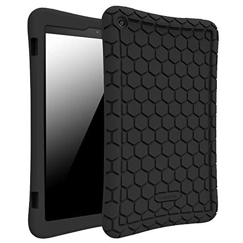 Fintie Hülle für Amazon Fire HD 8 Tablet (7. & 8. Generation - 2017 & 2018) - Leichte Rutschfeste Stoßfeste Silikon Tasche Case Kinderfre&liche Schutzhülle, Schwarz