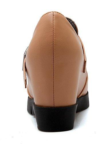ZQ hug Scarpe Donna-Scarpe col tacco-Formale-Tacchi / Plateau-Zeppa-Finta pelle-Nero / Tessuto almond , black-us10.5 / eu42 / uk8.5 / cn43 , black-us10.5 / eu42 / uk8.5 / cn43 black-us5.5 / eu36 / uk3.5 / cn35