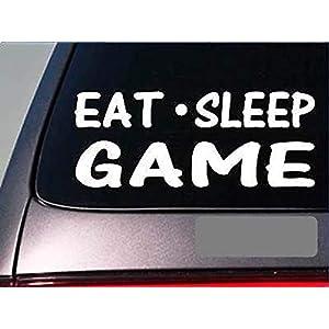 CELYCASY Eat Sleep Game Aufkleber G889, 20,3 cm, Vinyl, für Videospiele, Konsolensteuereinheit
