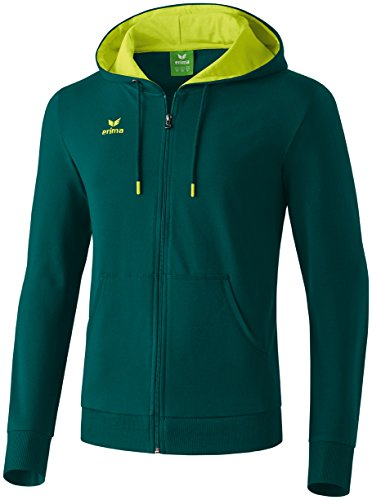 erima Kinder Sweatjacke Graffic 5-C, Pinie/Lime, 128