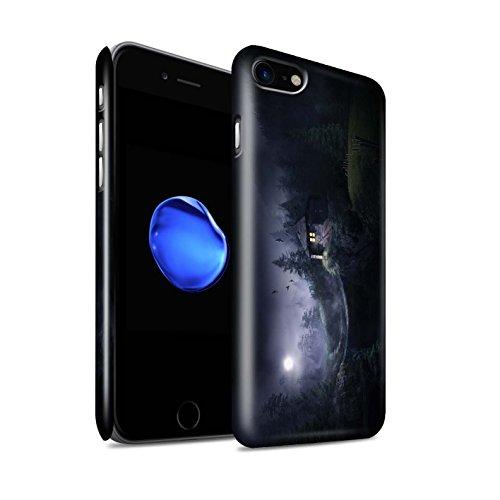 Officiel Elena Dudina Coque / Clipser Brillant Etui pour Apple iPhone 8 / Endroit Calme Design / Fantaisie Paysage Collection Forêt Brumeuse