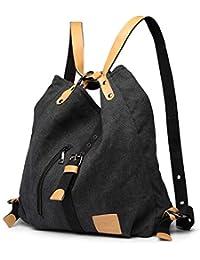 Kono Mochila de bandolera, bolsos de lona versátiles y multifuncionales para las mujeres niñas, elegantes bolsos cruzados, mochila duradera para viajes de gran capacidad para portátiles