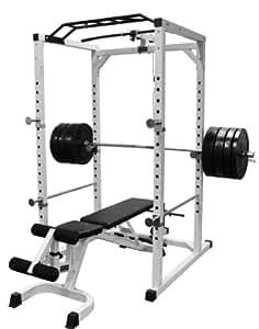 Pro Power Cage / Rack / Hantel Käfig inkl. Latzug Turm BCA-08LAT
