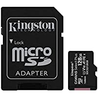 Kingston Canvas Select Plus SDCS2/128GB Scheda microSD Classe 10 con Adattatore SD Incluso, 128 GB