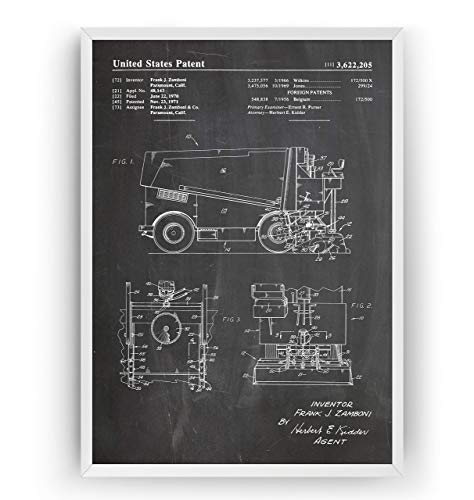 ine Patent Poster - Eishockey Eislaufen Jahrgang Drucke Drucken Bild Kunst Geschenke Zum Männer Frau Entwurf Dekor Vintage Art Decor - Rahmen Nicht Enthalten ()