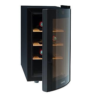 HKoenig-AGE8WV-Weinkhlschrank-8-Flaschen-Temperatur-von-8C-bis-18C-LED-Temperaturanzeige-Holzlagerbden