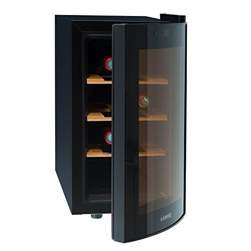 H.Koenig AGE8WV Weinkühlschrank/8 Flaschen/Temperatur von 8°C bis...