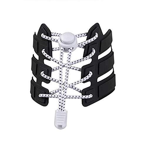 Ducomi elasticshoes lacci elastici scarpe per bambini e adulti - veloci, riflettenti e autobloccanti - funzionali lacci per marathon, triathlon atleti e anziani - 3 paia (white)