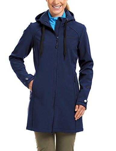 Maier Sports Damen Softshellmantel Mim, medieval blue, 46, 260758