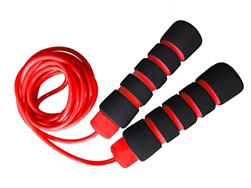 Premium Quallity Skipping Rope Comfortable Jump Rope for Gym training Weight Reducing Warm Up Sports - 9 feet - Assorted Colors