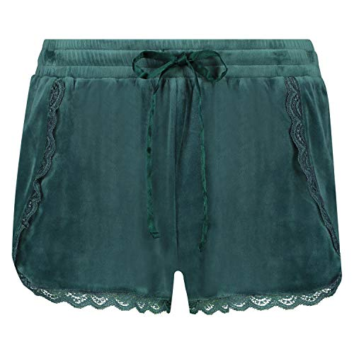 HUNKEMÖLLER Damen Shorts Velours Lace grün M