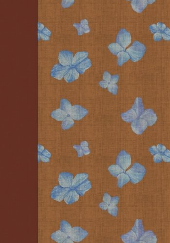 Tan with Blue Flowers Chintz Notebook -- Creative Journal: 7x10, Cream Paper, 5mm Dot Grid, 184 Pages - Blue Chintz