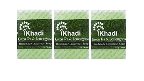 khadi Green Tea and LemonGrass Handmade Luxurious Soap (pack Of 3) 125g x 3 With Ayur Lotion 50 ml  available at amazon for Rs.247
