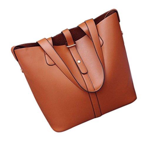 Borsa grande, donne spalla borse borsa tote borsa in pelle Messenger Hobo Bag by Kangrunmy Marrone