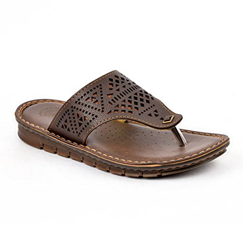 INBLU Mens sandal for formal and casual use – colour brown - Size 6 to 11 Inch – Chappal for mens casual - slippers for men – gents chappal - Stylish shoe for men – mens sandal casual – Shoes for mens