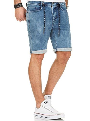 ... Urban Surface Jogg Jeans Shorts kurze Hose Bermuda Herren Denim  Sweatpants Joggjeans Vintage Used Look Middle ... 0a2d12bd0b