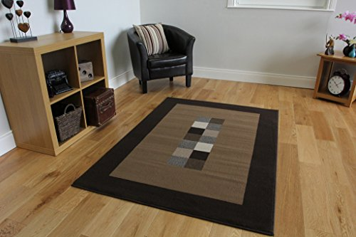 Ultra Modern Dark U0026 Light Brown Extra Large Rug 10 Sizes Available 280cm X  365cm (9ft 2 Part 53