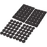 Toyvian 4pcs Round Rubber Pads Furniture Floor Protector Pad for Table Chair Furniture Black