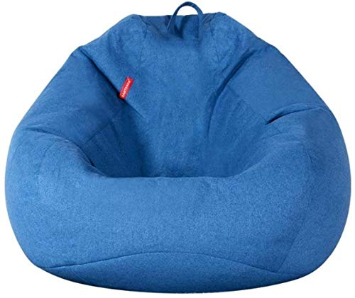 Freizeit Lazy Sofa Sitzsack Epp Einzel Lehnstuhl Net Red Section Schlafzimmer Balkon Freizeit Tatami Stuhl Bequem (Color : Blue, Size : Large)