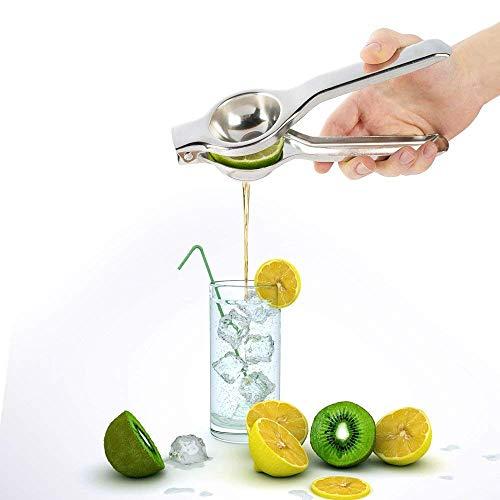 Exprimidor de Limon Exprimidor de Cítricos Acero Inoxidable Plata Prensa de Mano para Juicing Naranja...