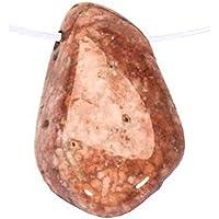 Moosachat pink - mit Bohrung gebohrter Trommelstein Edelstein gebohrt L preisvergleich bei billige-tabletten.eu