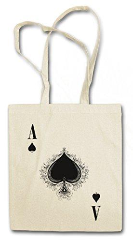 ACE OF SPADES III Hipster Shopping Cotton Bag - Spade Ace Poker Card Casino Karte Royal Flush Pik As