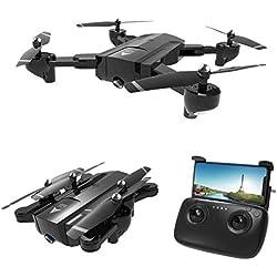 Drone Pliable Quadcopter, SG900 -S Quadcopter Pliable 2.4GHz Full HD Caméra WiFi FPV GPS Point Fixe Drone Temps de vol: Environ 10 Minutes Distance de contrôle: Environ 300m (1080p Pixels)