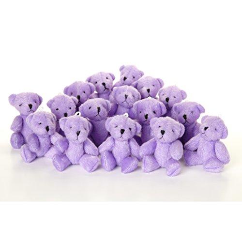 Niedlich und Kuschelig Little Teddy Bear Lila X 16-Geschenk Geburtstag ()