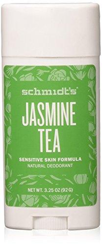 Schmidt's Natural Deodorant - Jasmine Tea 3.25 Oz Sensitive Skin Stick; Aluminum-Free Odor Protection & Wetness Relief