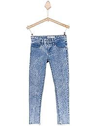 Jeans TIFFOSI - enfant fille - coupe slim - coton stretch - bleu bleach délavé - du 8 au 14 ans